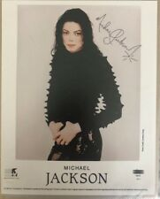 Michael jackson Signed Autographed Photo Coa No Fedora Glove Smile Bad Thriller