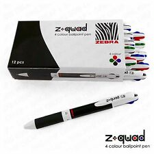 "Zebra Z-Quad - Four Colour ""4in1"" Retractable Ballpoint Pen1.0mm: Box of 12 Pens"