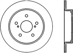 Disc Brake Rotor-Sport Drilled/Slotted Disc Rear Left Stoptech 127.48013L