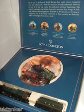 New Hornby R650 GWR 4-6-0 King Henry V1 Loco No 6018 & Royal Doulton Plate Set