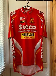 Saeco Cannondale Red Cycling Jersey Size XL