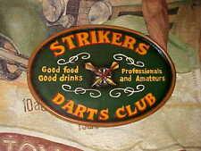 Strikers Darts Club Wooden Bar Sign