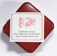 Isle of Man 2001 Silver Crown Lunar Series Year of the Snake OGP Only