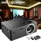 Full HD 1080P Home Theater LED Mini Multimedia Projector Cinema USB TV HDMI AU