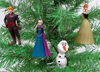 Disney Frozen Christmas Ornaments 4 Piece Set.  Anna, Elsa, Olaf   **Brand New**