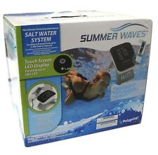 New Summer Waves Salt Water System for Above Ground Pools,  LED Display 7000gal
