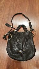 OrYANY Gwen Shoulder Bag, Handbag Black Leather Gold Hardware