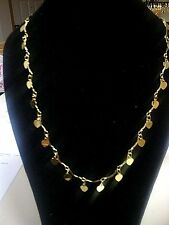 "9K GOLD FILLED HEART NECKLACE & BRACELET       SIZE 24"" & 8"""