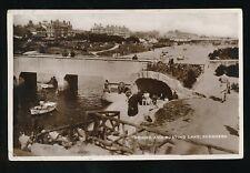 Lincolnshire Lincs SKEGNESS Bridge and Boating Lake 1937 RP PPC KE8 stamps