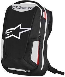 Alpinestars City Hunter Black White Motorcycle Backpack Incl Rain Cover 25 Litre