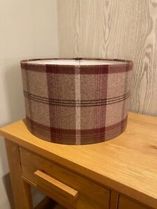 Handmade Lampshade in Porter and Stone Mulberry Fabric, Tartan, Various sizes