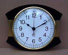 Pendulette JAPY ELECTRIQUE NOIRE & dorée vintage ancienne pendule horloge MARCHE
