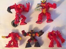RARE 2010 GORMITI LORDS OF NATURE MAGMA VOLCANO LAVA tribu Toy 5 action figures