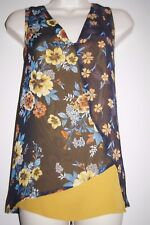 M & S Per una top size 12 navy mix new with tags