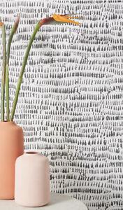 Anthropologie Runes Wallpaper Roll Black/White