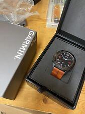 Garmin fenix 6x Pro sapphire Black DLC with Chesnut