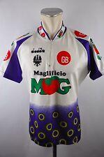 DIADORA mogur VINTAGE CYCLING JERSEY MAGLIA RUOTA MAGLIA TG. XXL 58cm 10b