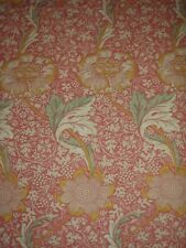 "William Morris Curtain Tissu ""Kennet"" 3.3 mètres framboise/jaune Lin Union"