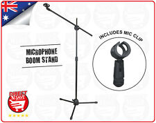 Microphone Boom Arm Stand Height Adjustable Collapsible w/ Clip Black MS-70B