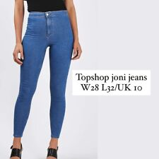 Topshop High Waisted Joni Jeans W28 L32 or UK 10 in Bright Blue