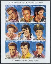 Elvis Presley , The King - Tansania Kleinbogen postfrisch** (1)