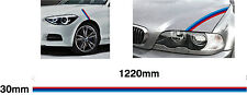 Small BMW M Stripe 30mm - Car decal graphic M3 sport E30 E36 E46 E90 330 318 320