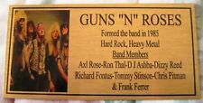 Guns n Roses Band Gold Plaque picture Free Post