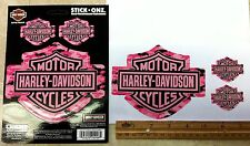 Harley-Davidson logo *PINK CAMOFLAGE* 3-set Stickers  Indoor-Outdoor