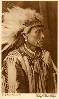 THE VANISHING RACE - CHIEF RED WHIP - GROS VENTRES CHIEF - GENUINE 21