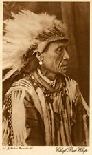 THE VANISHING RACE - CHIEF RED WHIP - GENUINE - PHOTOGRAVURE - VINTAGE