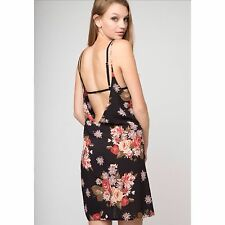 0c4fc85f371 Black Brandy Melville floral open back Lynette slip Dress NWT Sold Out.