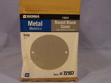 Sigma Electric 14241 72167 Box of 20 Grey Round Blank Cover