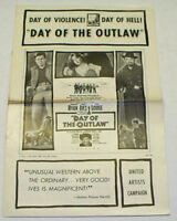DAY OF THE OUTLAW 1959 Movie Film PRESSBOOK - Burl Ives