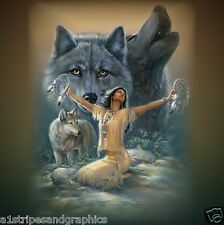 Indian Wolf RV Trailer or Wall Mural Decal Decals Graphics Sticker Art Graphic