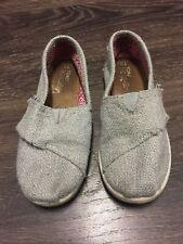 Grey Shimmer Sparkle Toms Size 11