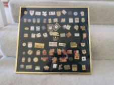 FRAMED 1980-1984 Olympic Games Enamel Pin Assorted Collection ABC