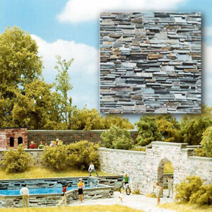 Busch 7421 2 decorative panels layered stone H0 1/87 scale