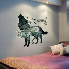 Wall Decal Wolf Moon Sticker Decor Art Room Howling Wolf Home