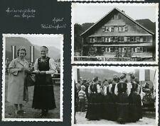 Foto, Bezau, 1961, Frauen in Tracht, Waldhäusel,Feuerwehrfest,5 Foto, Bregenz