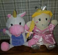 Aldi Little Town Unicorn Hand and princess  Glove Puppets