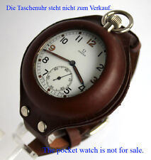 LEDERBAND & HÜLLE TASCHENUHR kompatibel DH GSTP ELGIN DOXA NARDIN etc WATCH BAND
