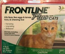 Frontline Plus for Cats 3 Lbs Count 1.5 Or 8 Wk Epa Approved Genuine Free Ship