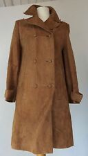 """VINTAGE 1970'S 'CHERRY LONDON' GOLD ULTRA SOFT SUEDE COAT - SEMI FITTED 36"""" BUST"""