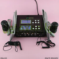 Dual Detox Foot Bath Spa Aqua Ionic Cleanse Machine 2 Fir Belts for Salon Clinic