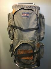 Vtg 70s 80s Jansport Backpack Large Grey Nylon External Frame Hiking  Camping USA 6cc6cfce2add5
