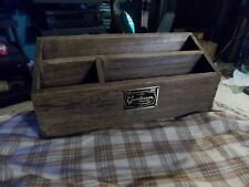 Vintage Gunderson Company Dovetailed Wood Desk Top Bill Letter Organizer 13.5""