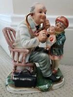 Pediatrician Vintage Doctor Gift Physician Porcelain Statue Norleans Japan Ex