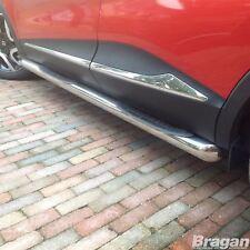 Para adaptarse a 2015+ Renault Kadjar Acero Inoxidable bandas laterales pasos Almohadillas tubos faldas
