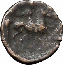 PELINNA Thessaly 306BC Mantho w casket Horse man Ancient Greek Coin i47596
