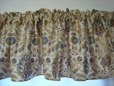 Window Valance w New Ralph Lauren Fabric MARRAKESH TAN CAFE FLORAL PAISLEY LINED